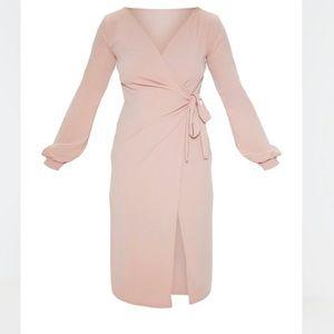 Pretty little thing wrap midi dress